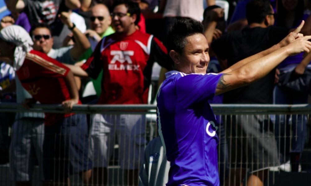 Gustavo Canales fue la figura en la goleada azul - Foto: Claudio Cáceres